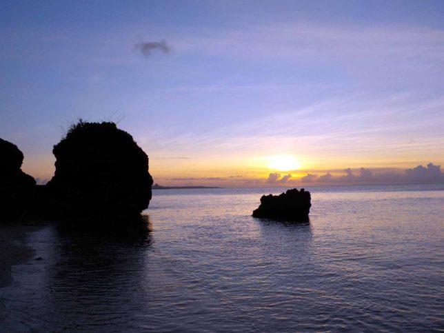 沖縄今帰仁村のサンセット