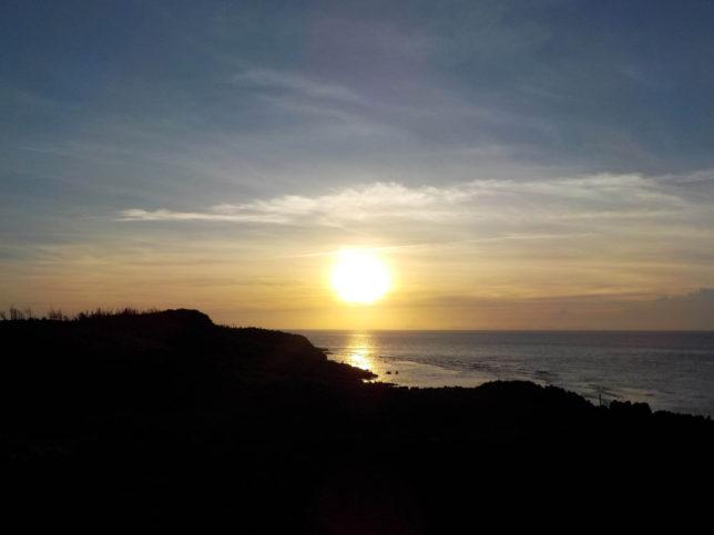 沖縄 やんばる 辺戸岬 サンセット